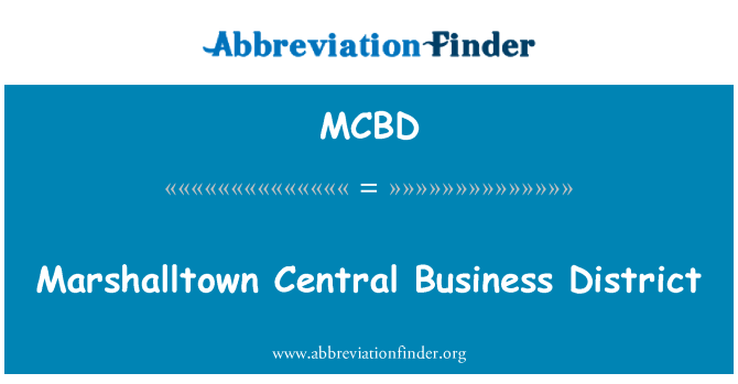MCBD: 马歇尔敦中央商务区