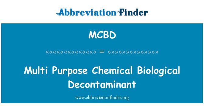 MCBD: Multi Purpose química biológica descontaminante
