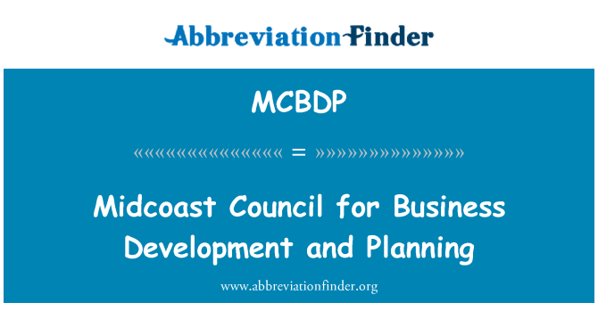 MCBDP: Midcoast Council for Business Development and Planning