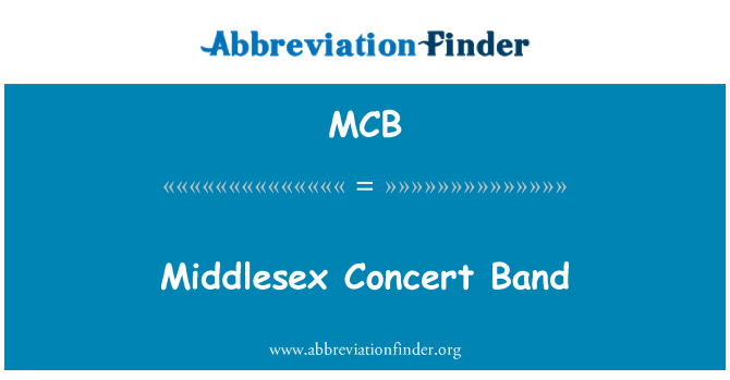MCB: Middlesex Concert Band