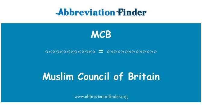 MCB: Muslim Council of Britain