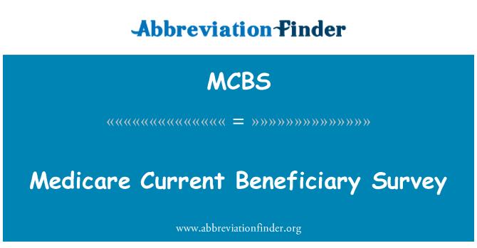 MCBS: 医疗保险受益人概况