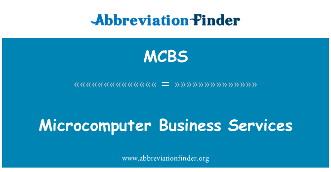MCBS: خدمات الأعمال ميكرو