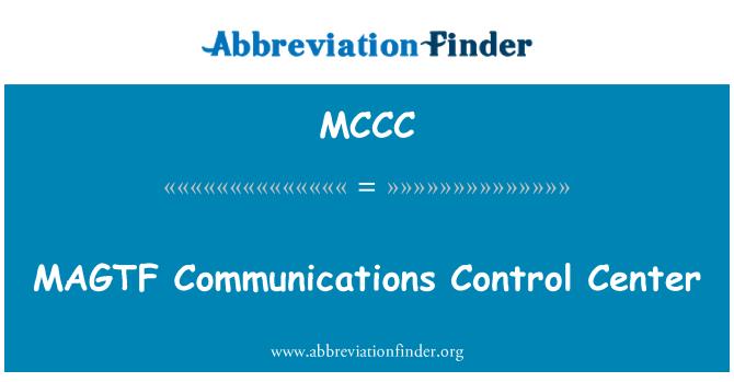 MCCC: Centro de Control de comunicaciones MAGTF