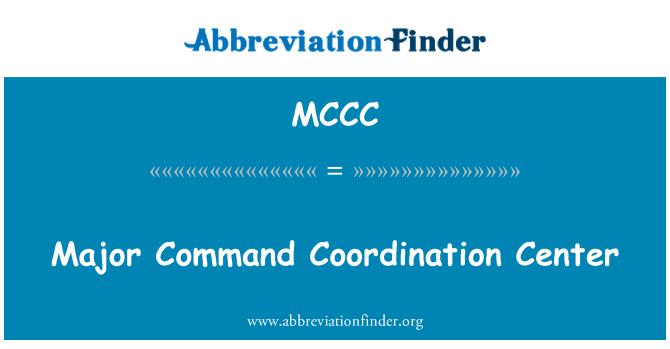 MCCC: Comandante comando Coordination Center