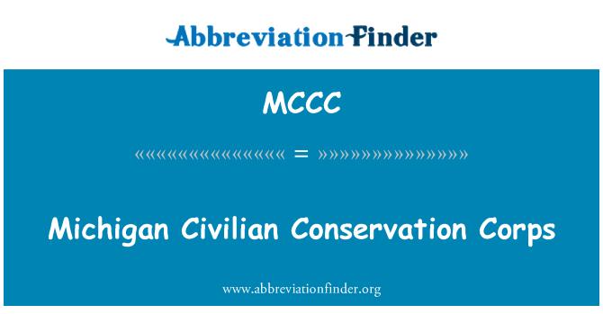 MCCC: Cuerpo de conservación civil de Michigan