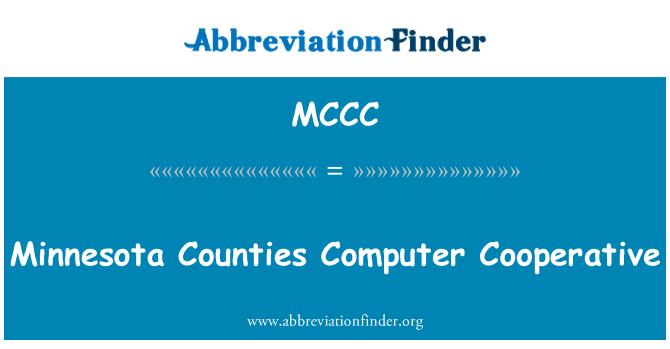 MCCC: Los condados de Minnesota equipo cooperativo
