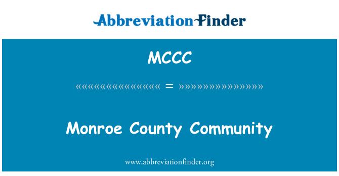 MCCC: Comunidad del Condado de Monroe