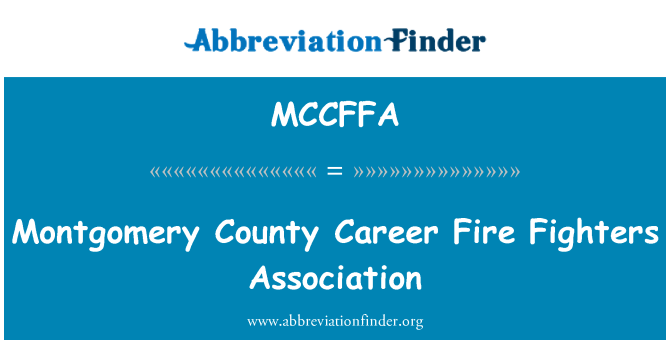 MCCFFA: Montgomery County Career Fire Fighters Association
