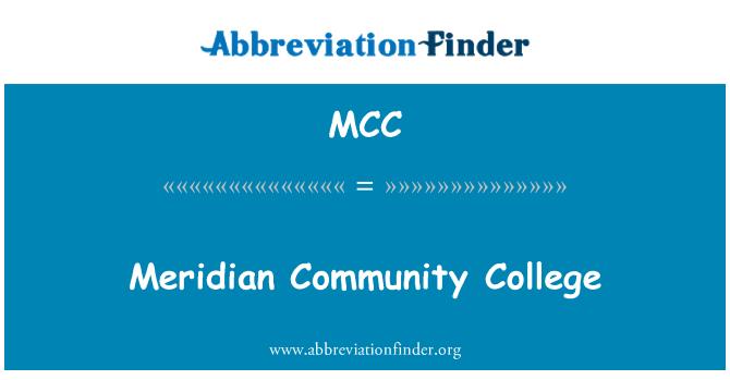 MCC: Meridian Community College