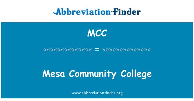 MCC: Mesa Community College