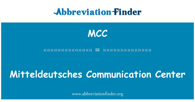 MCC: Mitteldeutsches Communication Center