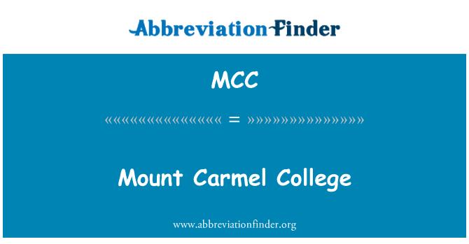 MCC: Mount Carmel College