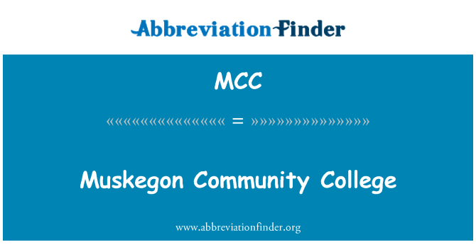 MCC: Muskegon Community College