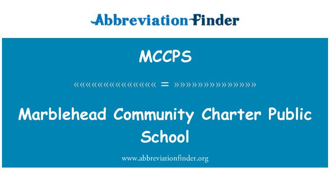 MCCPS: Marblehead Community Charter Public School
