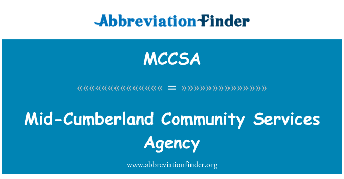 MCCSA: Mid-Cumberland Community Services Agency