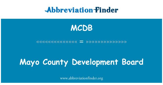 MCDB: Junta de desarrollo del Condado de mayo