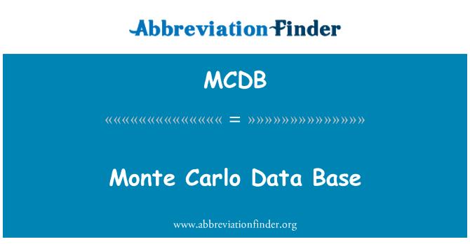 MCDB: Base de datos de Monte Carlo