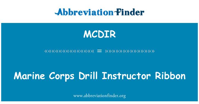 MCDIR: Marine Corps Drill Instructor Ribbon