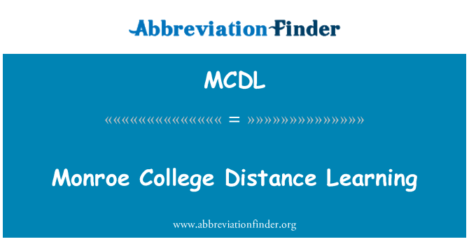 MCDL: Monroe College Distance Learning