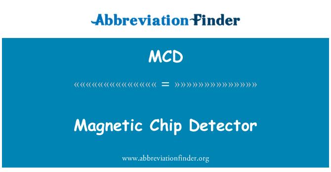 MCD: Magnetic Chip Detector