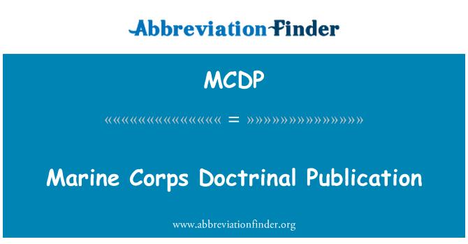 MCDP: Publicación Doctrinal de la infantería de Marina