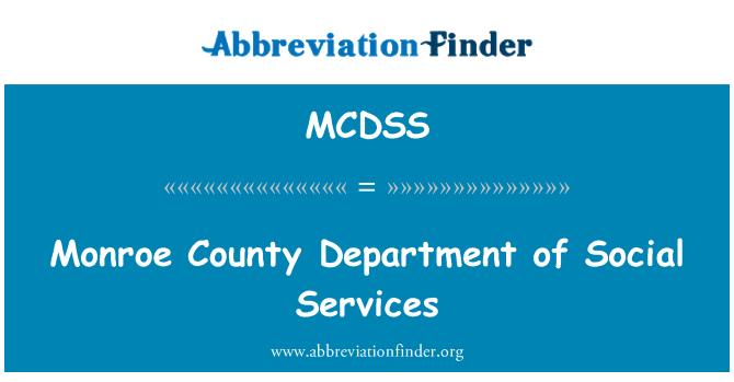 MCDSS: 门罗县部门社会服务