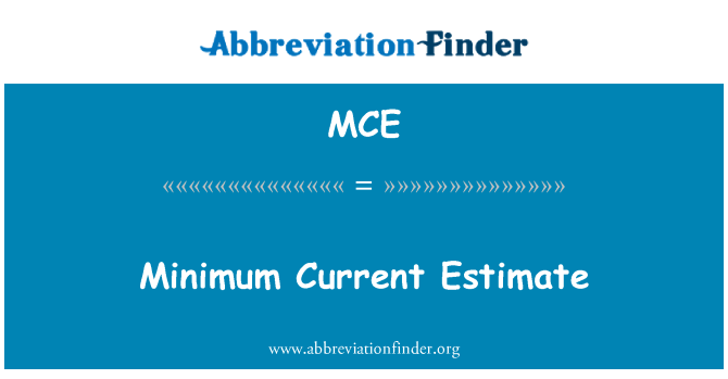 MCE: Minimum Current Estimate