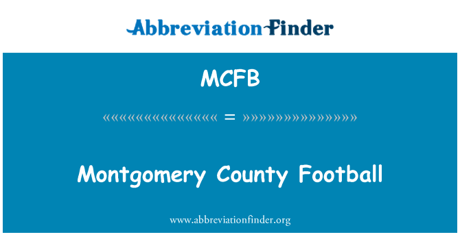 MCFB: Montgomery County Football