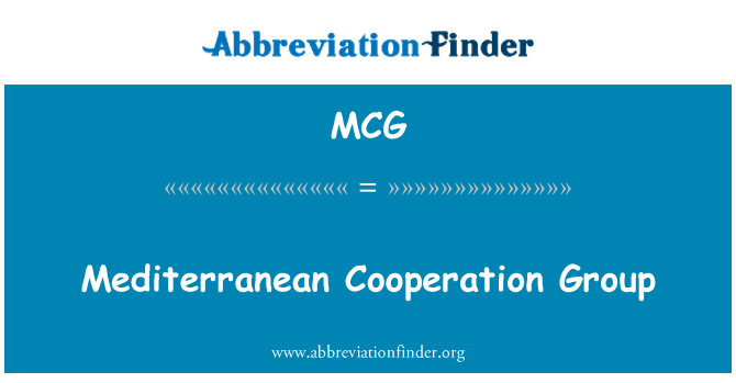 MCG: Mediterranean Cooperation Group