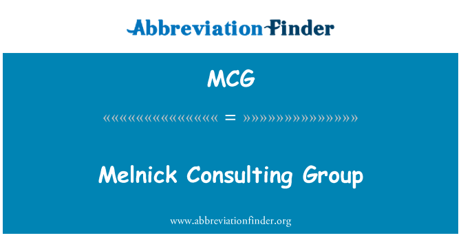 MCG: Melnick Consulting Group