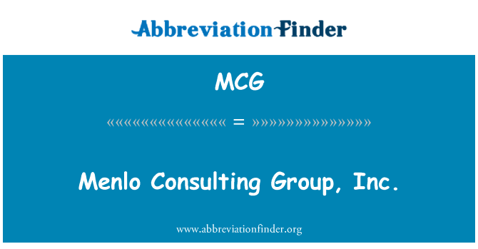 MCG: Menlo Consulting Group, Inc.