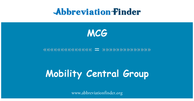 MCG: Mobility Central Group
