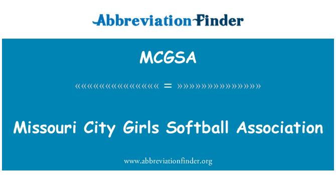 MCGSA: Missouri City Girls Softball Association