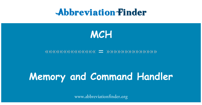 MCH: Memory and Command Handler