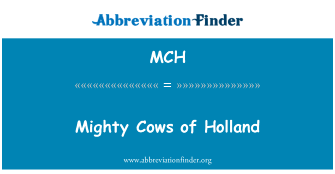 MCH: Mighty Cows of Holland