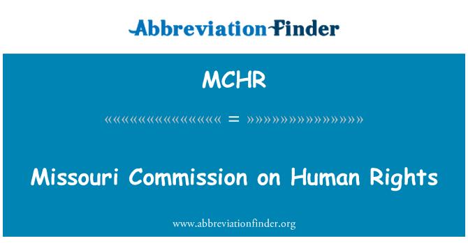 MCHR: Missouri Commission on Human Rights