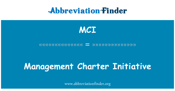 MCI: Management Charter Initiative