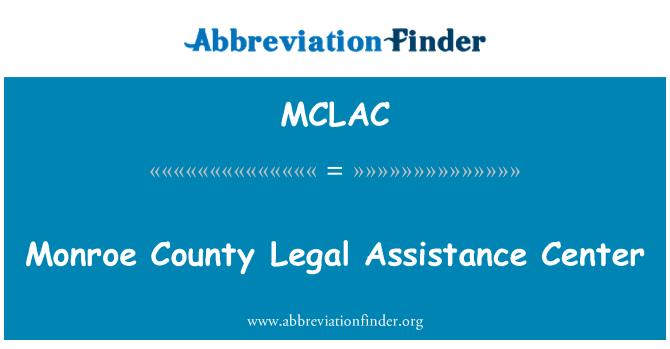 MCLAC: Monroe County Legal Assistance Center
