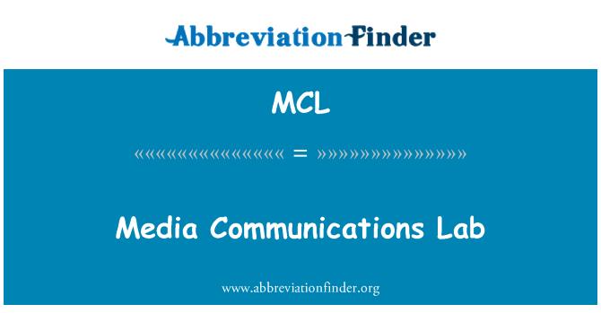 MCL: Media Communications Lab