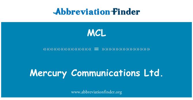 MCL: Mercury Communications Ltd.