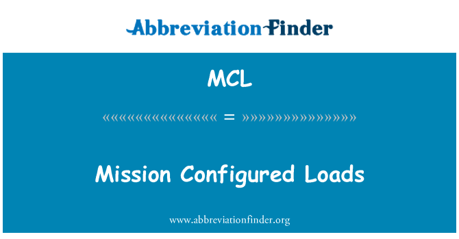 MCL: Mission Configured Loads