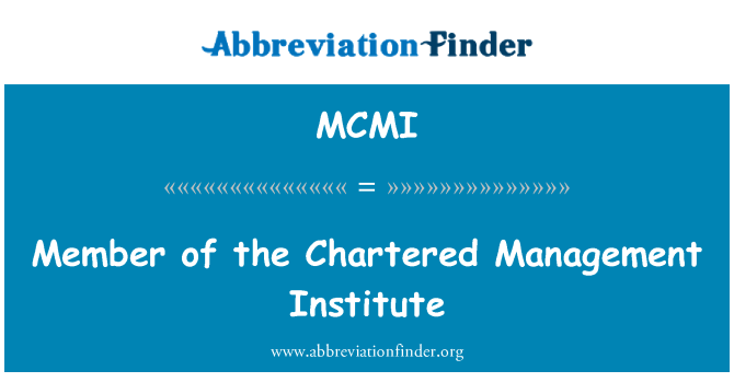 MCMI: Član Management Institut