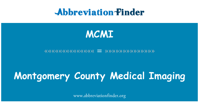 MCMI: Montgomery County Medical Imaging