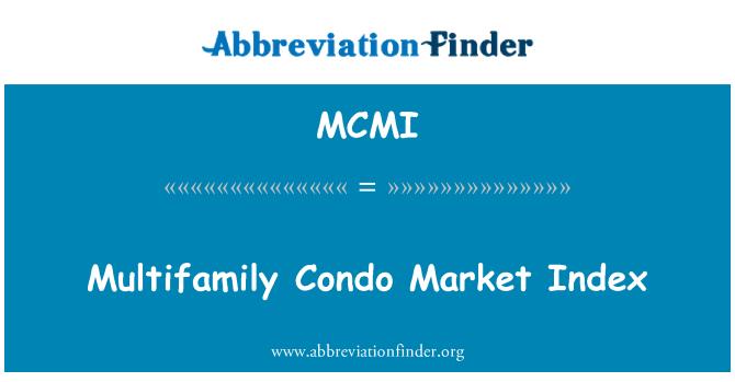 MCMI: Index trhu vícerodinné byt
