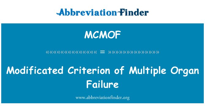 MCMOF: Modificated Criterion of Multiple Organ Failure