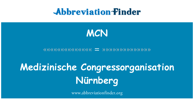 MCN: Medizinische Congressorganisation Nürnberg
