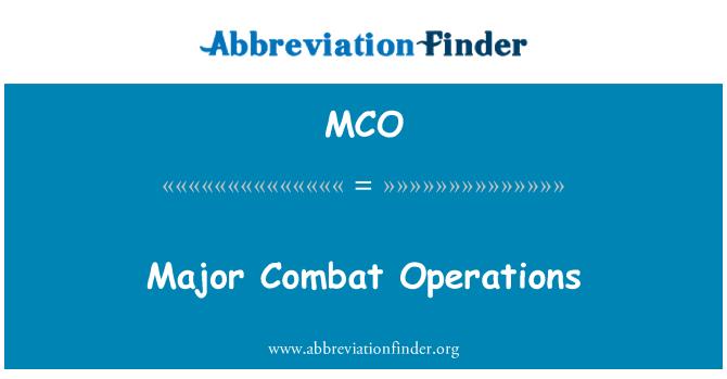 MCO: Major Combat Operations