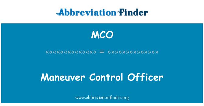 MCO: Maneuver Control Officer