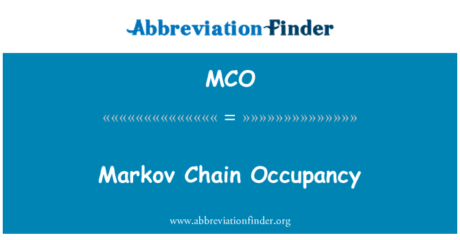MCO: Markov Chain Occupancy